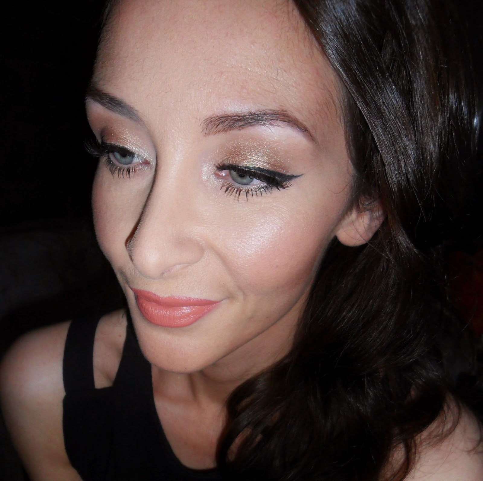 Max Factor Excess Shimmer Copper Tutorial Review