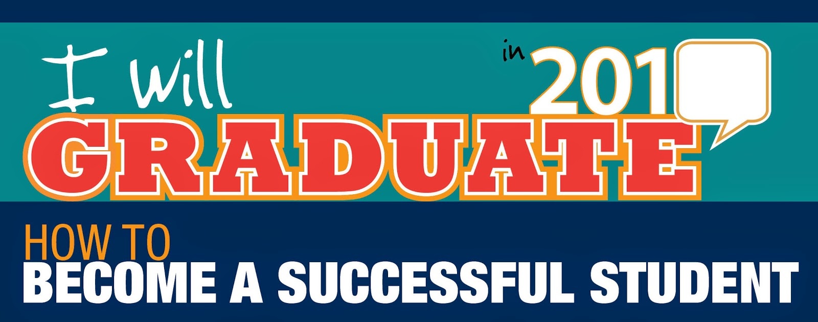 "Header reads ""I will graduate 201 (fill in the blank).  How to Become a Success Student."