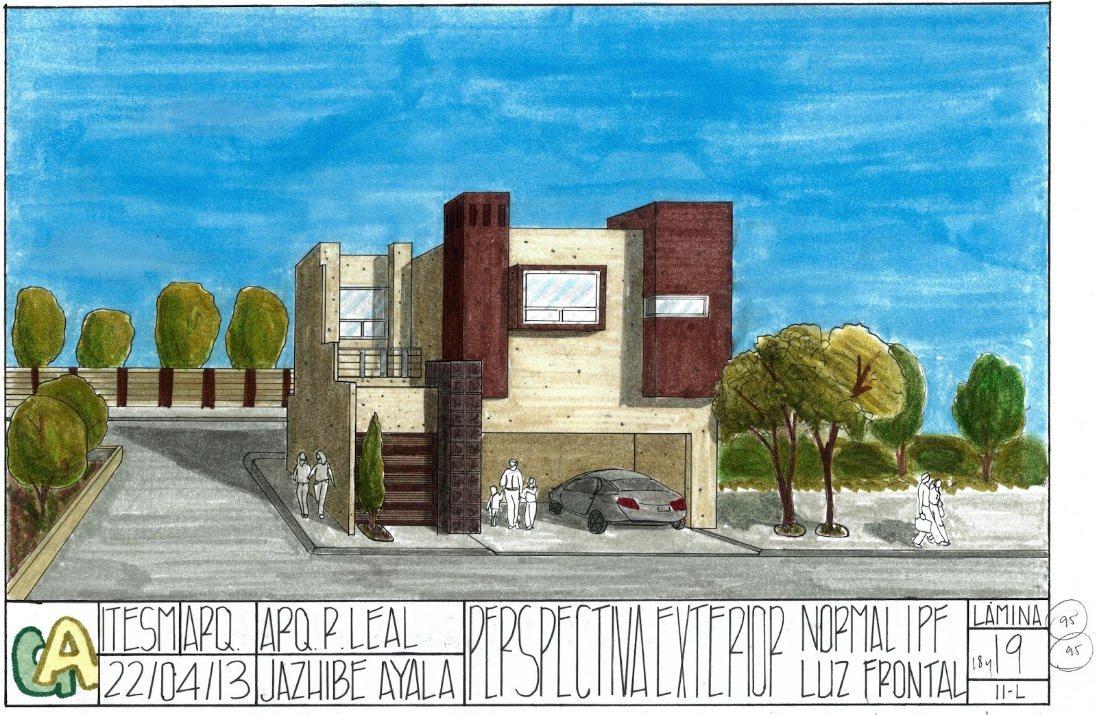 geometr a aplicada l mina 18 y 19 perspectiva exterior