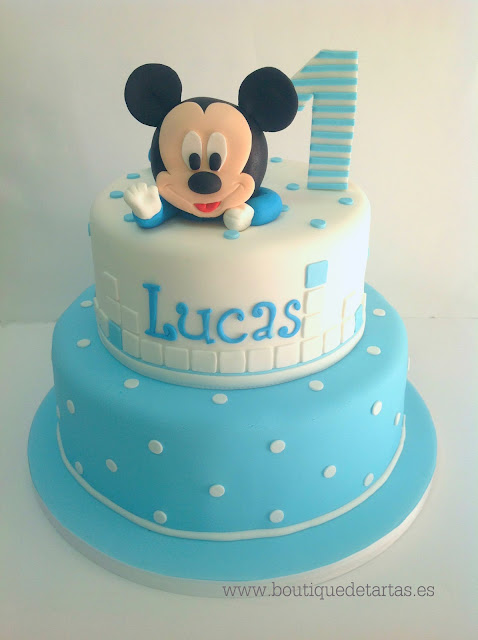 Magasin Cake Design Lausanne : La boutique de las tartas - Cake Design: Tarta Baby Mickey