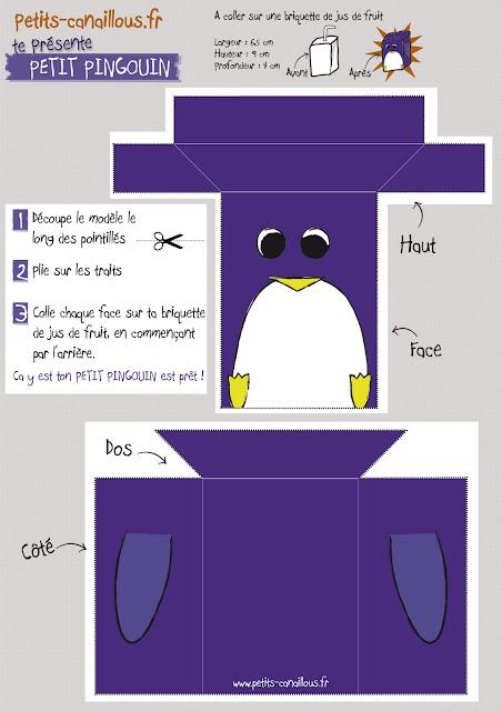 tuto stick ton carton petit pingouin à imprimer