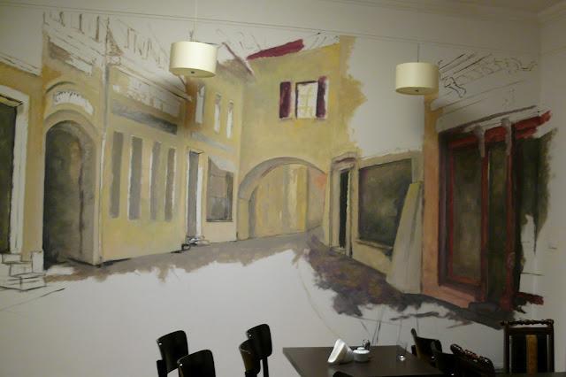 Wandmalerei, Anordnung der bar, Warszawa malarstwo ścienne