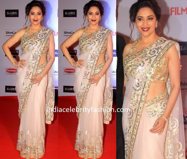 Madhuri Dixit in Sequin Net Saree