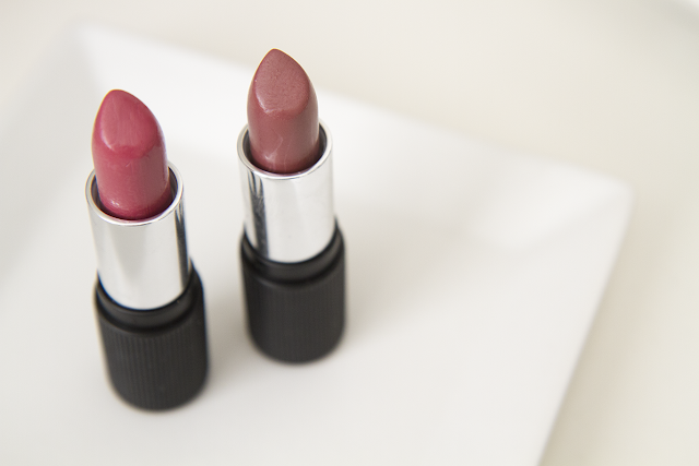 Photo of Red Apple Lipstick lipsticks in Audrey and Ooh La La.