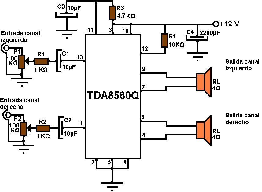 integrado TDA8560Q,