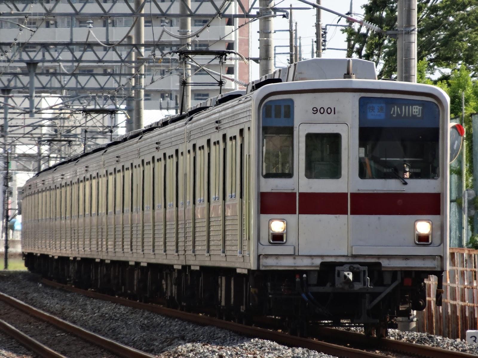 東上線を走る9000系9101F