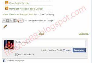komentar facebook pada blog