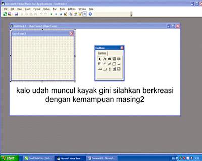 Membuka visual basic di software corel draw x6
