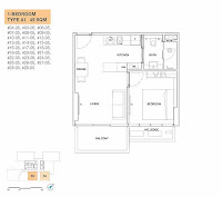 6 Derbyshire 1 bedroom floor plan