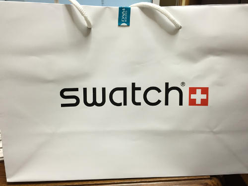 Swatchのショッピングバッグ