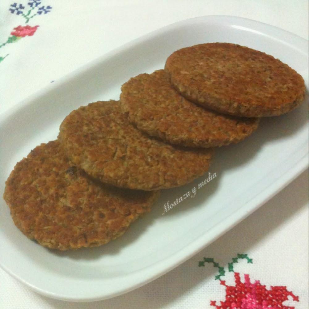 Mostaza y media hamburguesas consistentes de alubias y avena for Como cocinar alubias pintas