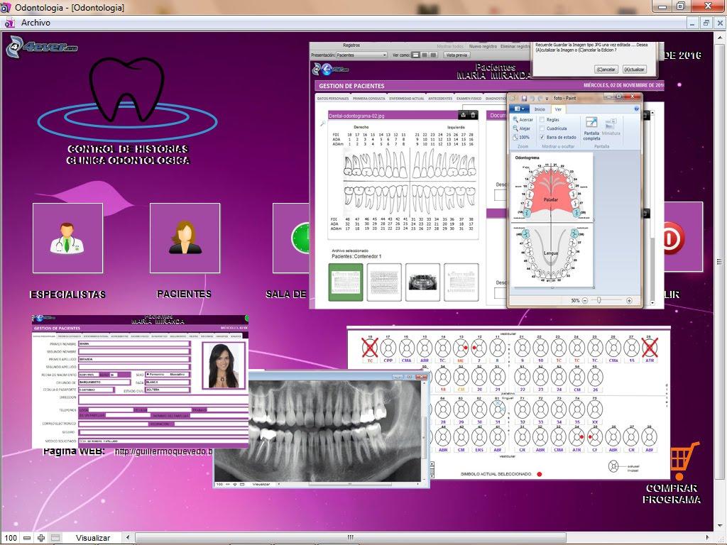 Nuevo Programa Historias Odontologicas por solo 100 US$