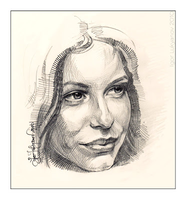 drawing a woman face (female portrait)