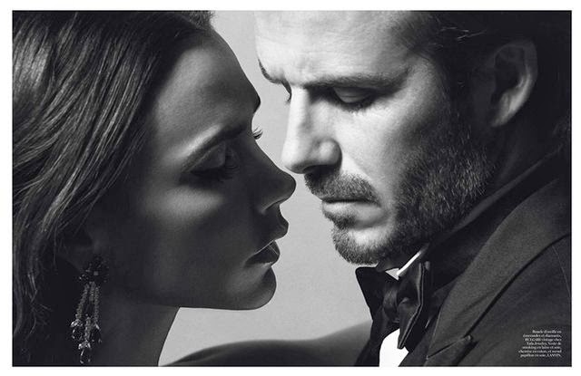Victoria and David Beckham Love Story in Vogue Paris