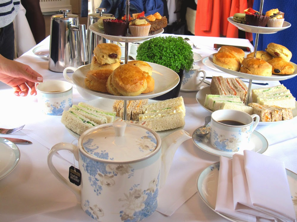 Afternoon tea at the Laura Ashley boutique hotel