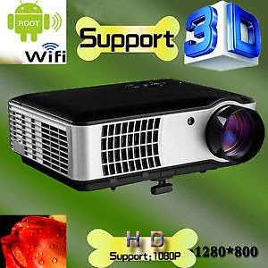 New 3500lumens,1280*800 Home theater LED Projector,USB,TV, Full HD,3D,1080P,WIFI