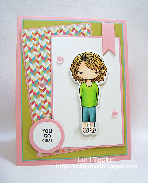 You Go Girl-designed by Lori Tecler/Inking Aloud-stamps and dies from Clear and Simple Stamps