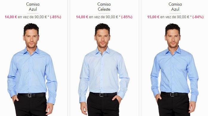 camisas azul celeste