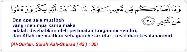 Surah Ash Syura Ayat 30