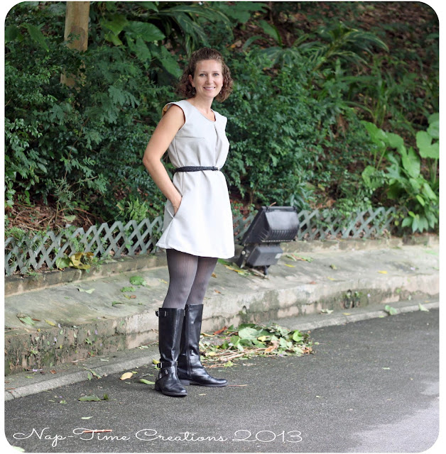 Dress from a tank pattern