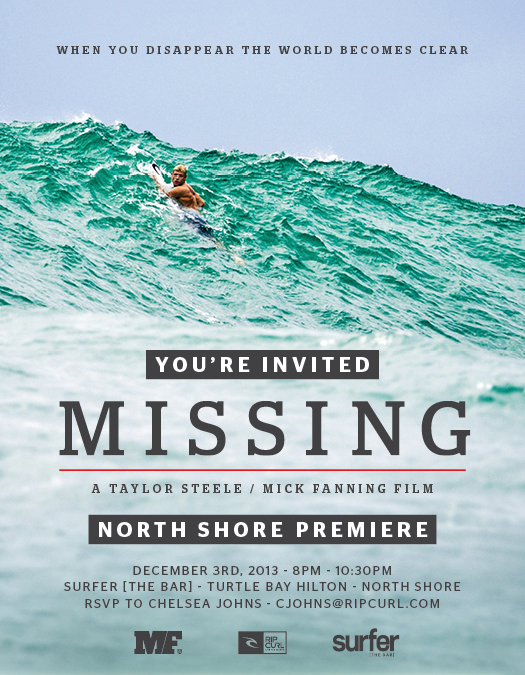 MISSING - Mick Fanning Full Movie