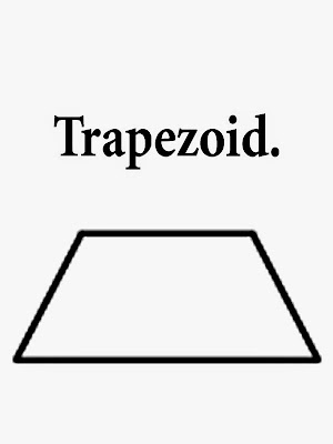 Trapezoid printable geometry figures trouble-free images school book coloring clip art with phrasing