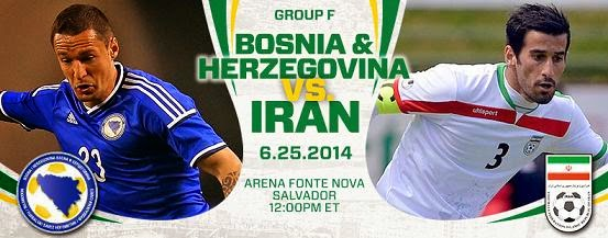 Partido Bosnia vs Irán