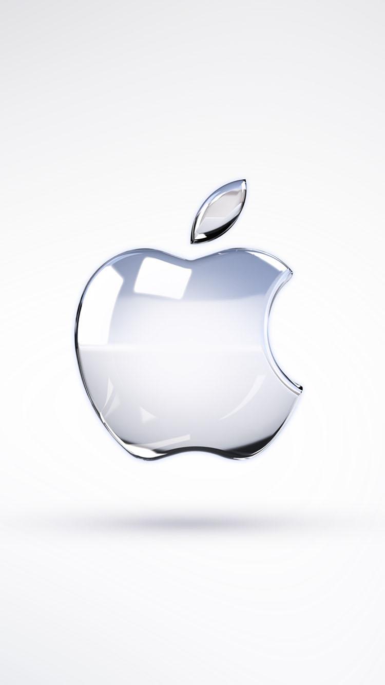 透明のアップルロゴ壁紙 サイズ:750x1334 クリア/ガラス