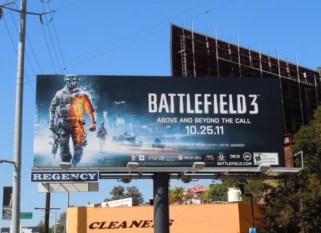 Battlefield 3 game billboard
