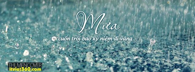 Ảnh bìa cho Facebook mưa | Cover FB timeline rain, mưa cuốn trôi bao kỷ niệm vào dĩ vãng