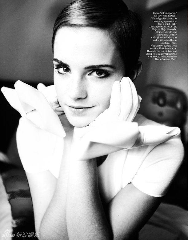 emma watson short hair pictures. tattoo 2010 Emma Watson Short