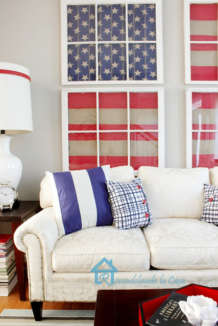 How to make old window art american flag