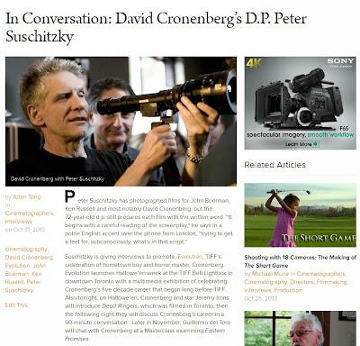 http://filmmakermagazine.com/77033-in-conversation-david-cronenbergs-d-p-peter-suschitzky/