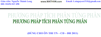 Tich phan tung phan, de thi dai hoc, luyen thi dai hoc 2011