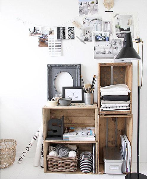 Decora tu vida diy muebles auxiliares con cajas de madera for Muebles con cajas de madera