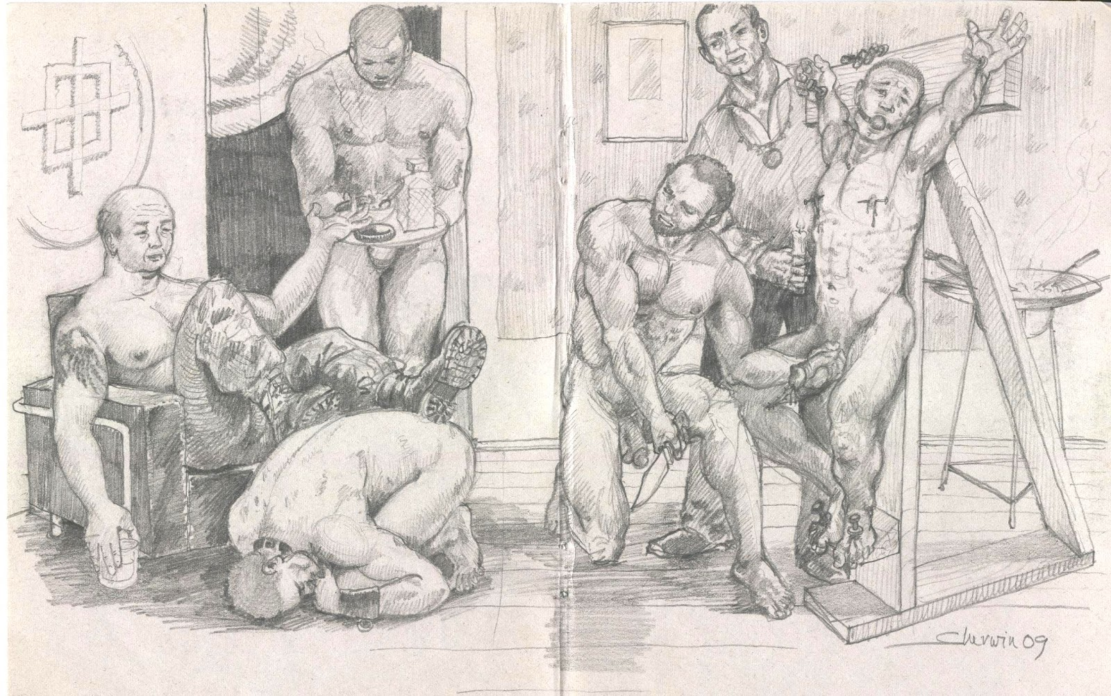 BDSM Gay Video  Domination sex punished gay violence