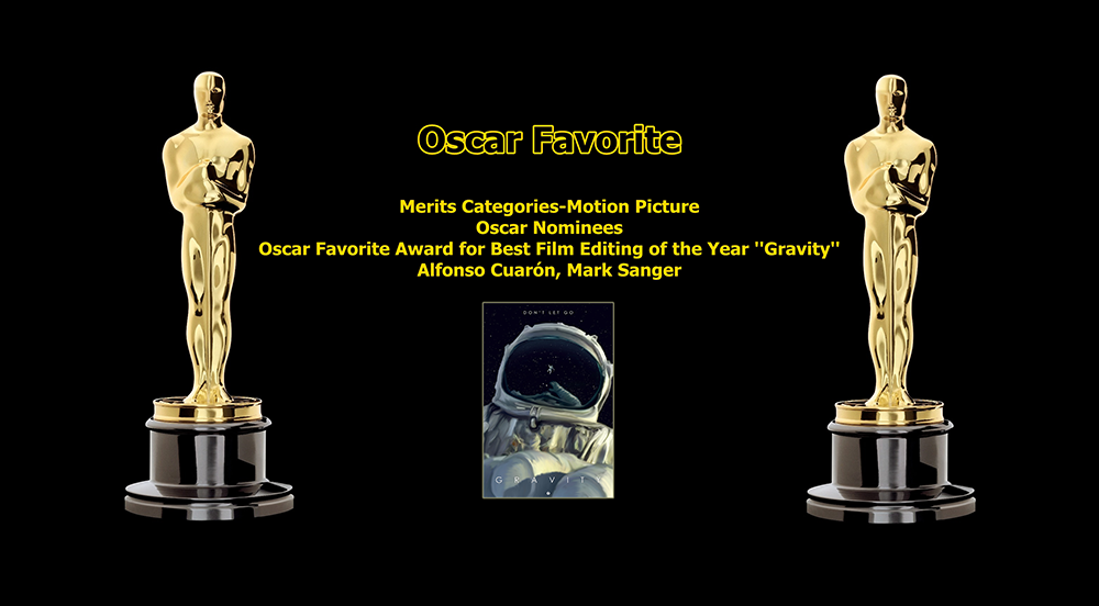 oscar favorite best film editing award gravity