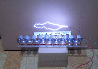 Tesla coil 10grades Marx/impulse voltage/pulse high voltage generator DIY kit