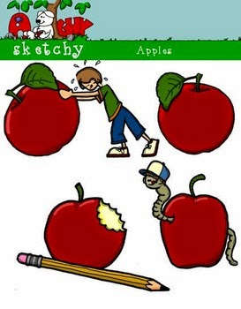 Back to School Apples Freebie by A Sketchy Guy