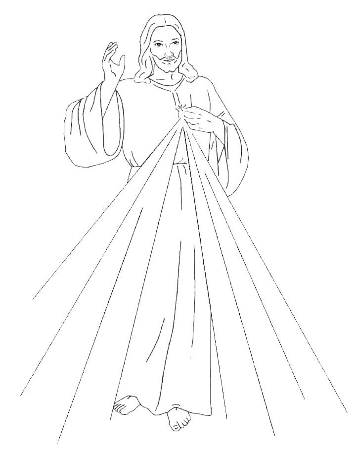 Señor de la Divina Misericordia dibujo