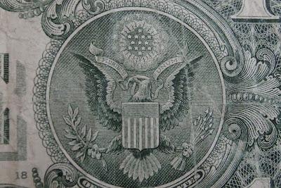 parte trasera de un billete de Dólar