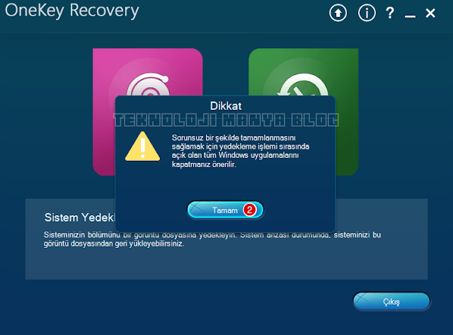 Lenovo OneKey Recovery kullanımı