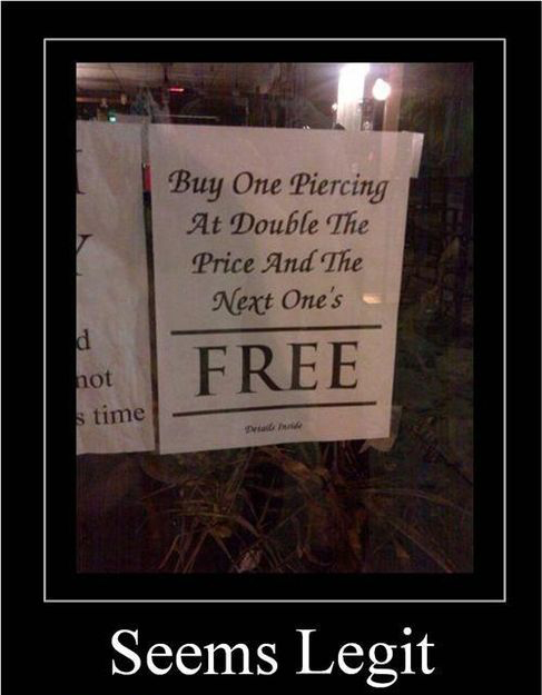 The Next One's Free - Seems Legit