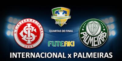 Confronto entre Internacional e Palmeiras pelas quartas de final da Copa do Brasil 2015.