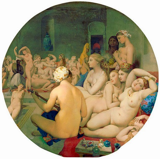Жан Энгр. Турецкие бани