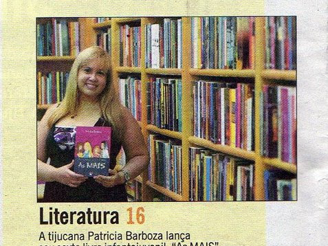 Matéria no jornal O Globo com a escritora Patrícia Barboza