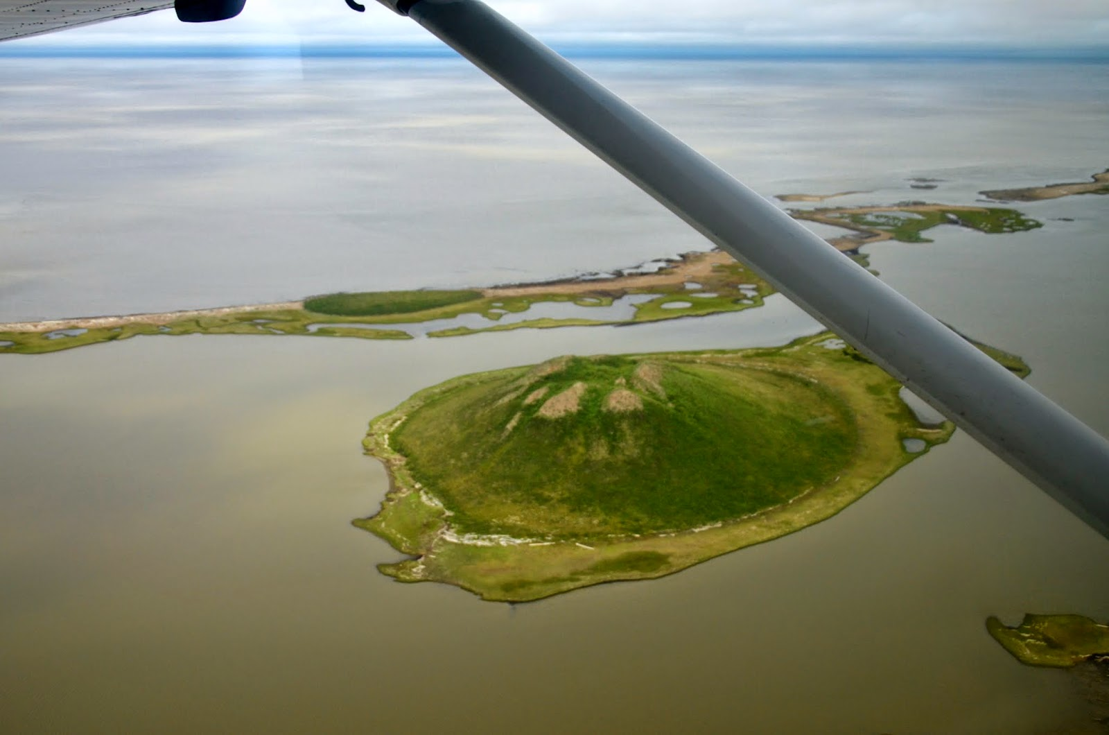 A large pingo from the air.