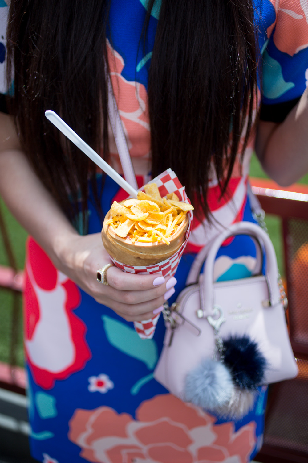 Disneyland Food Blog Review- Cars Land Cozy Cone Motel Chili Cone Queso
