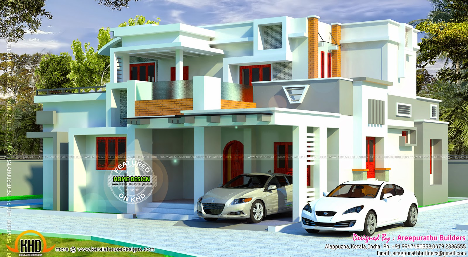 Modern house in kerala kerala home design and floor plans for Modern house in kerala