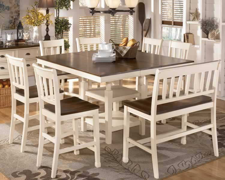 Dining room sets with bench long island new york dining for Dining set with bench and chairs